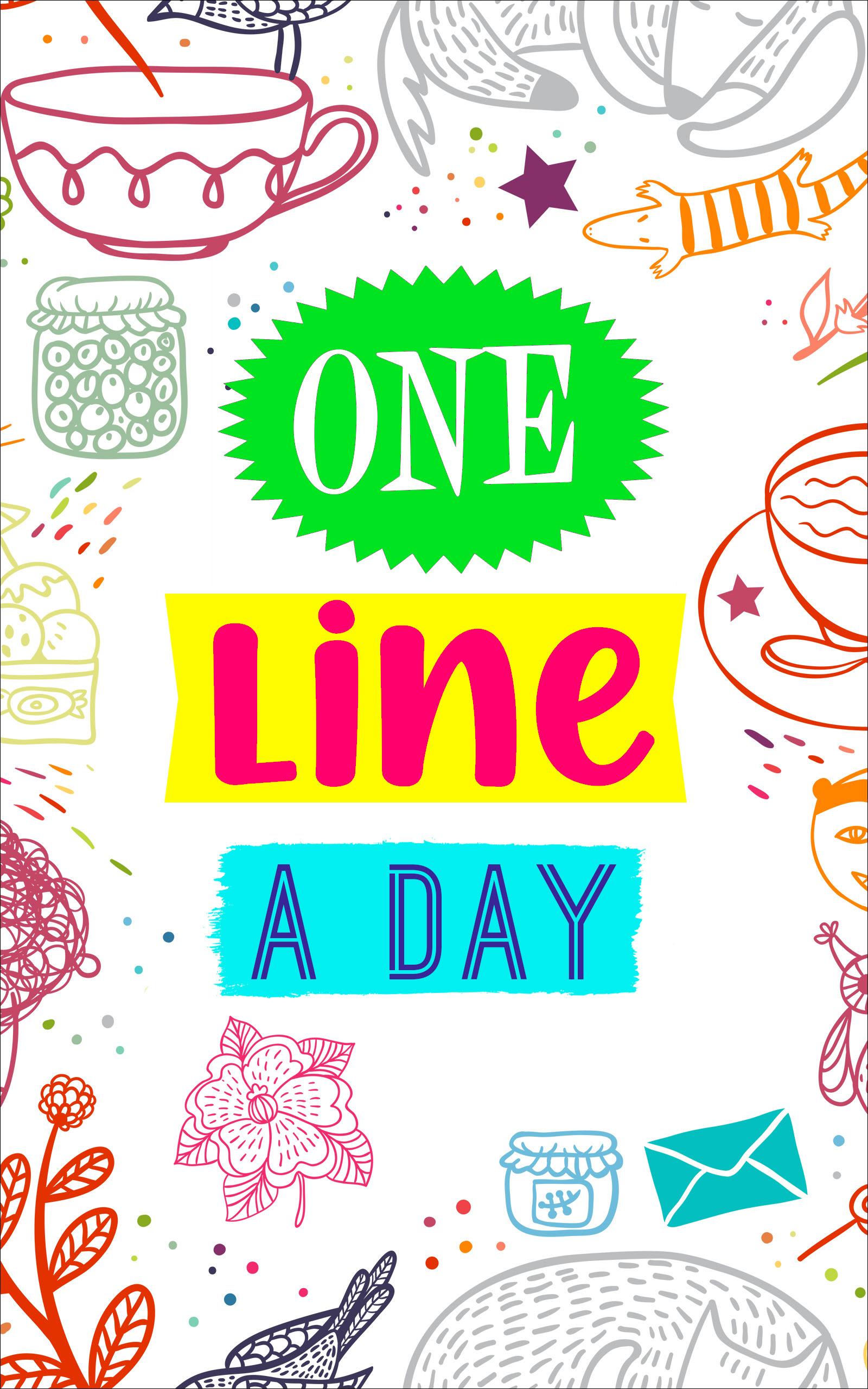 One Line A Day Buch Journal Deutsch