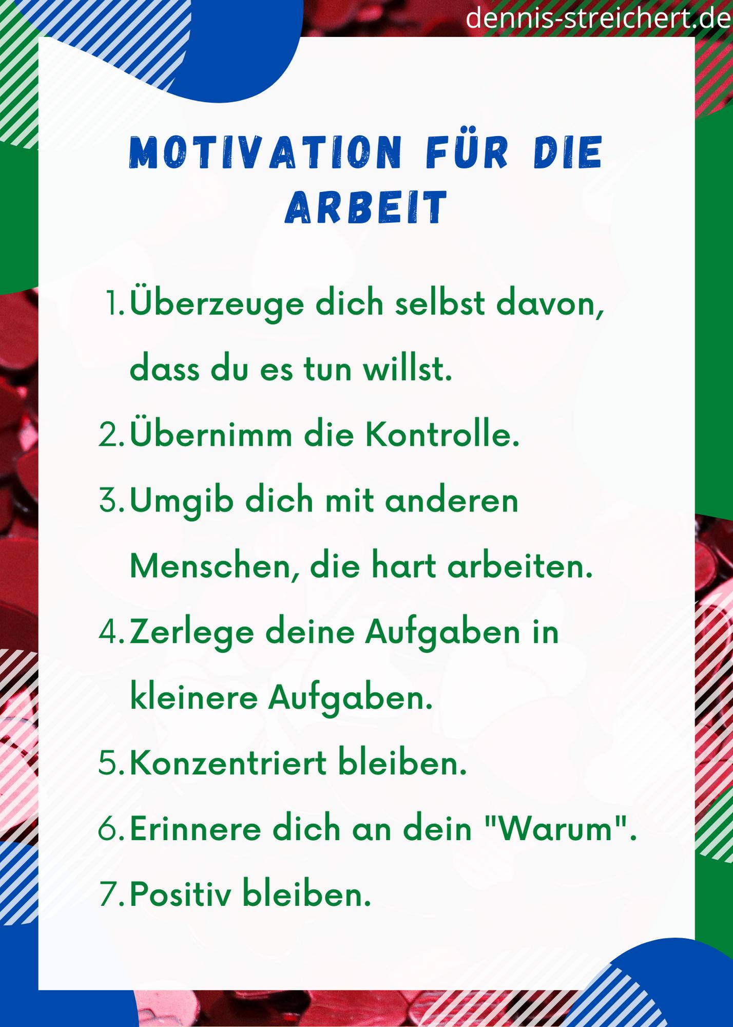 Motivation für die Arbeit - voll motiviert